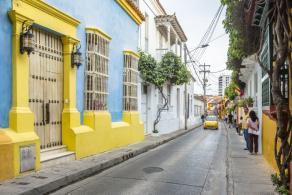Calle Tumbamuertos de Cartagena de Indias.